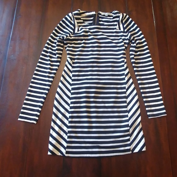Lucca Couture Dresses & Skirts - lucca couture Black & Ivory Striped Dress/Tunic